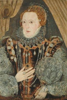 Portrait of Queen Elizabeth I by an unknown artist. Renaissance Portraits, Renaissance Clothing, Elizabeth I, Historical Costume, Historical Clothing, Historical Dress, Tudor Fashion, German Fashion, 16th Century Fashion