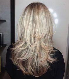 Blonde piece-y haircut for medium-to-long hair long hai, layered hair Long Face Hairstyles, Haircuts For Long Hair, Long Hair Cuts, Long Length Hair, Female Hairstyles, Hairstyles 2016, Wedding Hairstyles, Latest Hairstyles, Short Haircuts
