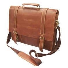 "Amazon.com: ""Cairo"" Men's Full Grain Leather Large Briefcase Computer Bag: Clothing"
