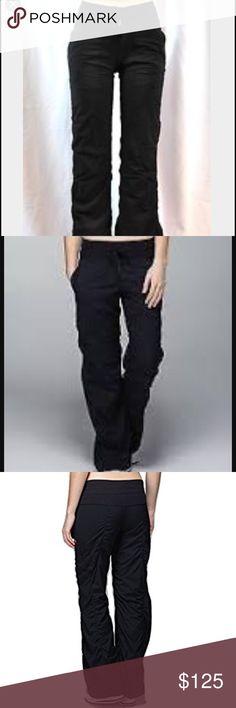 Lululemon Original Dance Studio Pant 6reg lined Like new, worn once. Excellent condition! Regular length and lined lululemon athletica Pants Track Pants & Joggers