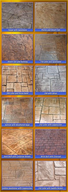 Dark Buff and Cordovan Brown for patio? Image detail for -. cement offers you custom color combinations stamped concrete colors Backyard Projects, Outdoor Projects, Backyard Patio, Backyard Landscaping, Stained Concrete, Concrete Floors, Concrete Pavers, Concrete Pad, Stamped Concrete Colors