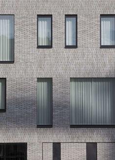 House Facade Brick Design Ideas For 2019 Brick Design, Facade Design, Exterior Design, House Design, Brick Architecture, Architecture Details, Computer Architecture, Enterprise Architecture, Building Facade