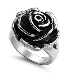 S St ROSE RING: Stainless Steel Casting Ring - Rose: Jewelry