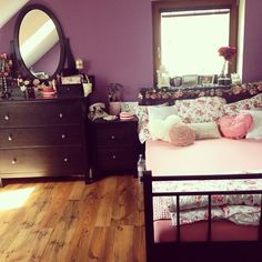 A rad Teen Girl Bedrooms for gorgeous bedroom planning, number 4529787574 Dream Rooms, Dream Bedroom, Home Bedroom, Bedroom Decor, Bedroom Ideas, Bedroom Designs, Master Bedroom, My New Room, My Room