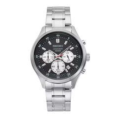 Ανδρικό ρολόι SEIKO SKS593P1 Prospex Solar με μαύρο καντράν, χρονογράφο, ημερομηνία και ατσάλινο μπρασελέ   ΤΣΑΛΔΑΡΗΣ στο Χαλάνδρι #seiko #prospex #solar #μαυρο #χρονογραφος #μπρασελε #tsaldaris Seiko Watches, Chronograph, Accessories, Jewelry