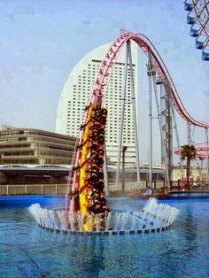 Vanish - Underwater Roller Coaster in Yokohama, Japan. Youtube video at website link!