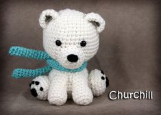 Churchill  Medium Stuffed Polar Bear Toy by AllOnHooksAndNeedles, $25.00  My big sister makes these!!! You SO need to check out her etsy site! :D