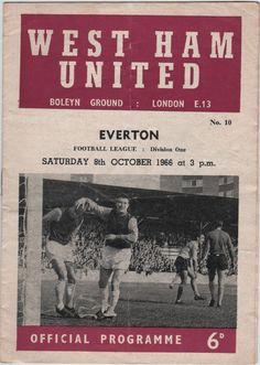 Vintage Football (soccer) Programme – West Ham United v Everton, season – Fixtures 2020 Football Icon, Football Soccer, 1966 World Cup, Football Program, West Ham, Vintage Football, Everton, Vintage Magazines, Program Design