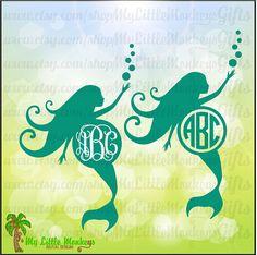 Monogram Mermaid Silhouette Monogram Base by MyLittleMonkeysGifts