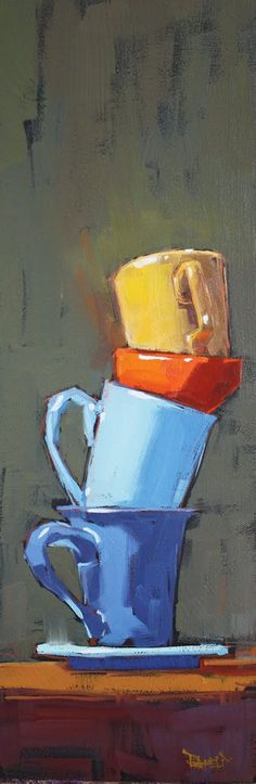 Cathleen Rehfeld • Large Original Oil Paintings: Balance Series :: Stack #3 - sold