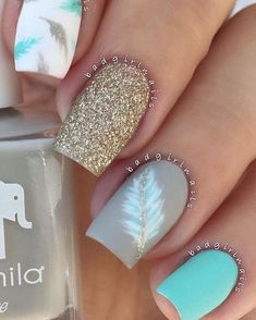 Pretty nail art design #nails #nailart