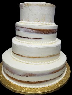 Buttercream Cake, Vanilla Cake, Wedding Cakes, Bakery, Desserts, How To Make, Food, Vanilla Sponge Cake, Wedding Gown Cakes