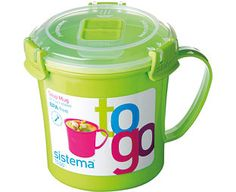 Original Gift Company Soup-To-Go Mug, Green, Polyproplylene Take a healthy, hearty soup to work or college with this special store, cook and serve mug. http://www.MightGet.com/february-2017-2/original-gift-company-soup-to-go-mug-green-polyproplylene.asp