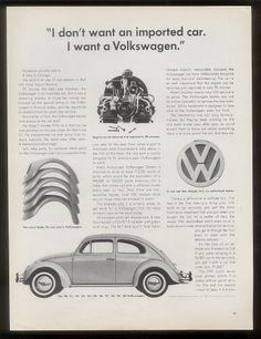 "1960 VW Beetle ""I Want A Volkswagen"" Car"