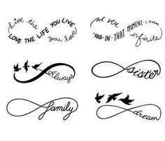 Infinity Symbol Set - Temporary Tattoo (Set of - Tatoo - 12 Tattoos, Bild Tattoos, Love Tattoos, Body Art Tattoos, Tatoos, Tribal Tattoos, Pretty Tattoos, Tattoo Maori, Tattoo Pics