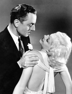 William Powell and Jean Harlow. William Powell was so debonair. Hollywood Couples, Old Hollywood Movies, Golden Age Of Hollywood, Hollywood Stars, Classic Hollywood, Vintage Hollywood, Hollywood Pictures, Hollywood Heroines, Hollywood Icons
