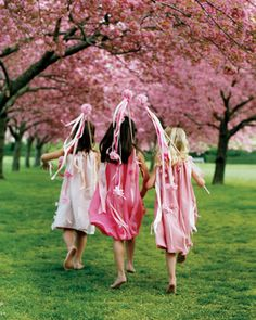 These are my flower girls. No, really - hues of pink, wands, and everything. I've based their entire outfits (and the wedding party) off this photo. which I ripped out of an issue of Martha Stewart Weddings YEARS ago. Flower Girls, Flower Girl Wand, Flower Girl Dresses, Pink Dresses, Pageant Dresses, Pretty Dresses, Diy Wedding Flowers, Wedding Fabric, Wedding Ribbons
