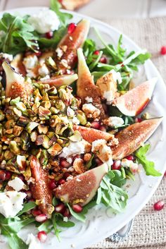 Fig and Goat Cheese Salad with Pomegranate Agrodolce