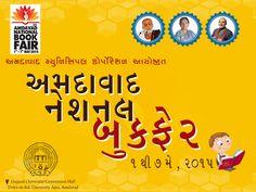 Ahmedabad National Book Fair - 2015 1st to 7th May Venue: Gujarat University Convention Centre, Nr. Helmet Cross Road, Ahmedabad Web: http://www.amdavadbookfair.com #AMC #Ahmedabadnationalbookfair #bookfair #Book #fair #authors #writers #Quotes #Amdavadbookfair #anbf2015 #sahityasaptah