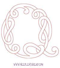 Monogram for Hand Embroidery: Celtic Q – Needle'nThread.com