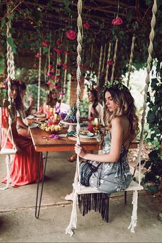 Macrame Swing Modern Macrame Wood Swing Outdoor Swing Boho Best Picture For underground pool ideas For Your Taste You are looking for something, and it is going to tell you exactly what you are lookin Outdoor Spaces, Outdoor Living, Wood Swing, Diy Swing, Hammock Swing, Hammocks, Backyard Patio, My Dream Home, House Design