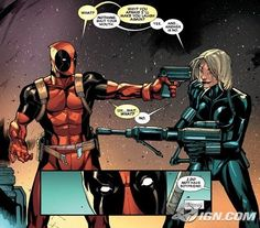 Deadpool & Black Widow- honestly, i dont care what anybody else says, they should be a couple. Him, or else Siryn. But then again Siryn actually didn't really like him in that way...