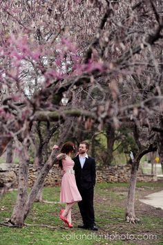 A Serenade in the Park | Salt & Light Photography #engagement #photo #ballett #cute #fountain #garden #love