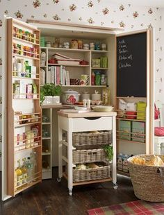 Seriously, this has a pull out kitchen island. #need