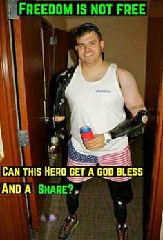 He is a hero. And my brother would be very happy to see this because he looks just like a robot and that's cool and my brother likes robots (transformers) Patriotic Pictures, Warrior Quotes, Military Love, Support Our Troops, Military Veterans, Real Hero, American Soldiers, American Pride, Faith In Humanity