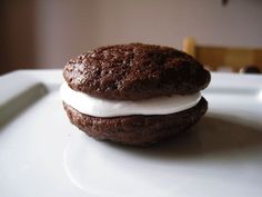 Classic Chocolate Whoopie Pies with Marshmallow Filling  Recipe type: High Altitude Baking