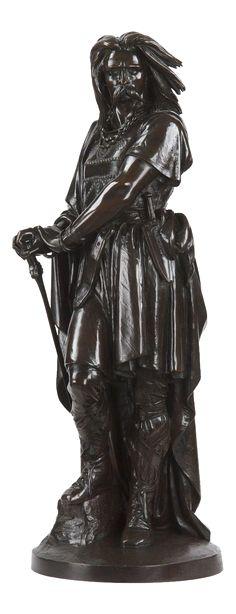 Aime Millet Bronze Sculpture of Vercingetorix on Chairish.com