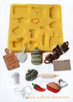 Silicone Mould Miniature Food Baking Cooking Theme by MadeItInHome, $9.99