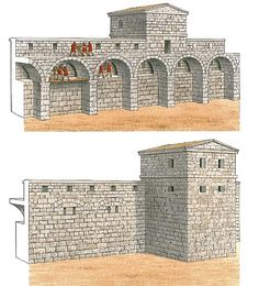 """The curtains of Perge - Built in the late 3rd century BC, the fortifications of Perge were revolutionary for their time. The curtains are of two structural types: a simple solid wall, and a wall with buttresses, arches, a mural gallery and embrasures for arrow-firing devices"""