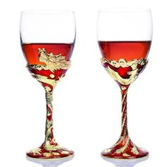 Luxurious Special Crystal Glass Toasting Flutes(Set of 2)