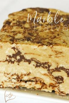 This version is slightly less flaky than the halva I remember from the shuk but it comes very close in texture and matches it in flavor. This is a must try delicious and easy Marble Halva! Halava Recipe, Israeli Food, Israeli Recipes, Arabic Food, Arabic Sweets, Jewish Recipes, Sweet Tooth, Sweet Treats, Cooking Recipes
