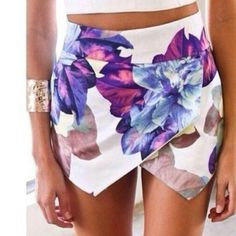 Wholesale Stylish Mid-Waisted Zippered Bodycon Printed Women's Shorts Only $11.16 Drop Shipping | TrendsGal.com