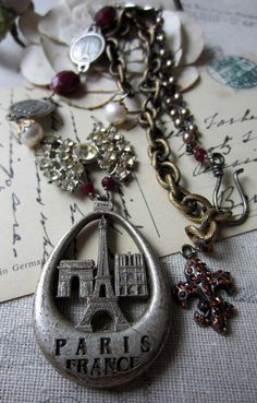 'parisian skyline' necklace by The French Circus on Etsy