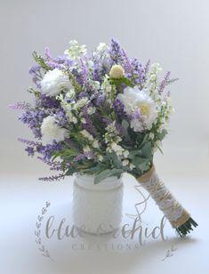 Purple Wedding Flowers Wildflower Bridal Bouquet - Rustic Bouquet, Lavender Wildflower Bouquet, Shabby Chic Bouquet, Bridal Bouquet, Boho Bouquet by blueorchidcreations on Etsy - Bouquet Bride, Bouquet Toss, Rustic Bouquet, Bouquet Wedding, Bridal Bouquet Diy, Burlap Bouquet, Wildflower Bridal Bouquets, Purple Wedding Bouquets, Bridal Flowers