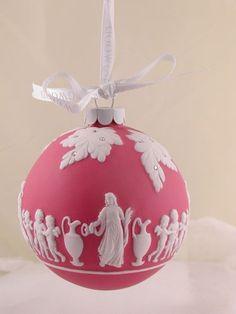 Wedgwood Red Jasperware Heirloom Ornament illustrated with Greek Scene   eBay  ~  It looks pink to me!