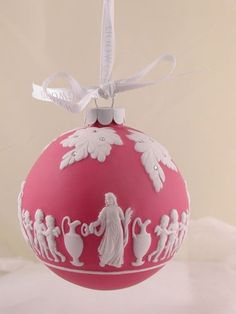 Wedgwood Red Jasperware Heirloom Ornament illustrated with Greek Scene | eBay  ~  It looks pink to me!