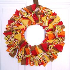 Thanksgiving Wreath by PolkaDotSkies on Etsy, $35.00