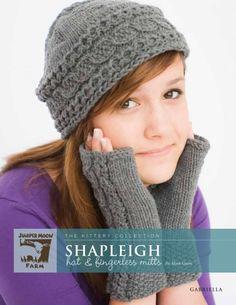 'Shapleigh' Hat & Fingerless Mitts from Gabriella - 'Shapleigh' Hat & Fingerless Mitts by  at KnittingFever.com