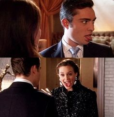 lol. gossip girl bloopers.