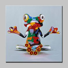 Lager Hand Painted Monastery Frog Animal Oil Painting On Canvas Wall Art Picture For Home Decor Whit Frame – AUD $ 66.09