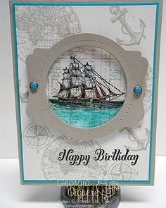Stampin' Up! Masculine Card with Open Seas Stamp Set