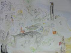 Sylvania (Burg Hill) pencil, watercolour on paper.