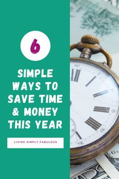 Looking for some easy ways to save time and money this year? If so, here are 6 simple, but easy ways to do just that. By making simple changes in your lifestyle, you can save hundreds, if not thousands of dollars.