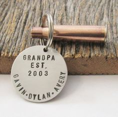 Christmas Gift for Hunters Stamped Keychain Gift for Grandpa Gift for Husband Gift for Grandfather Christmas Present New Parent Keyring Papa by CandTCustomLures on Etsy