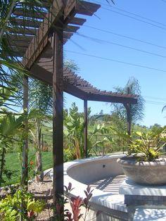 Arbor idea for the wisteria - Alles über den Garten Pergola Garden, Deck With Pergola, Pergola Plans, Pergola Kits, Pergola Ideas, Patio Roof, Backyard Ideas, Garden Ideas, Garden Structures