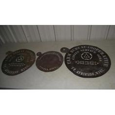 3 BRASS CITIES SERVICE BARREL STENCILS SIGNS FT ATKINSON WI WINONA MN Lot 127